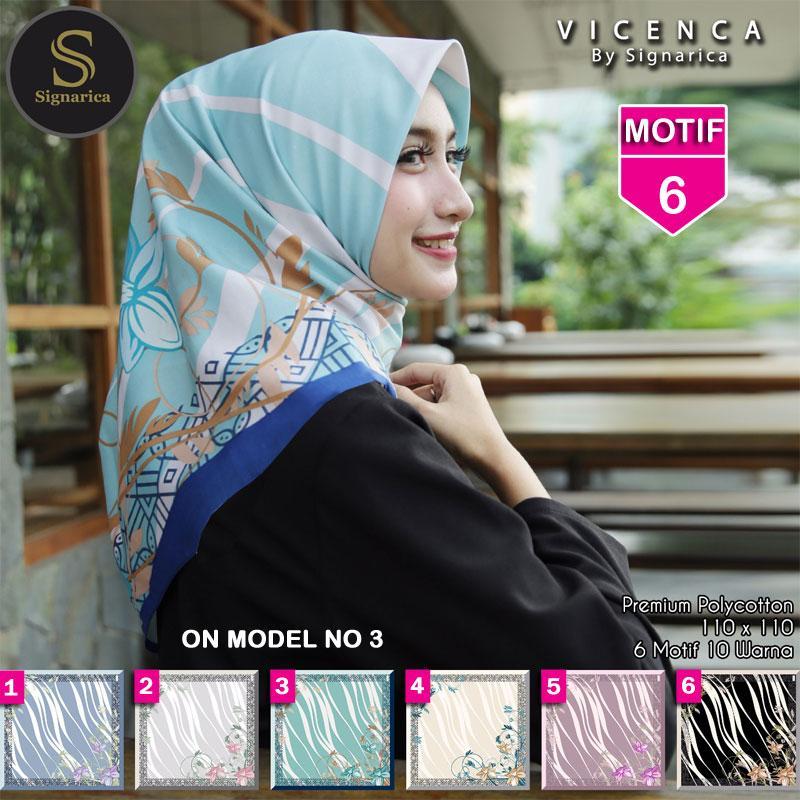 Hijab Segi Empat VICENCA 6 By SIGNARICA - Jilbab kerudung MOTIF