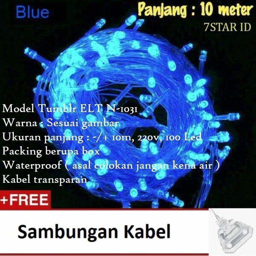 Lampu LED Tumblr ELT N-1031 7STAR Dekorasi Dan Hias Tumblr Natal Twinkle Light 10 Meter FULL + Ada Colokan Sambungan