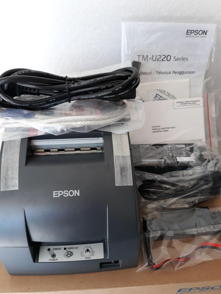 Buy Sell Cheapest Printer Epson Tmu Best Quality Product Deals Head 220 New Kasir 220d Non Autocutter Usb