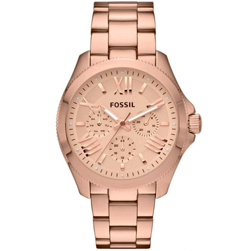 Fossil Cecile Chronograph - Jam Tangan Wanita - Rosegold - Stainless Steel- AM4511 - Watch
