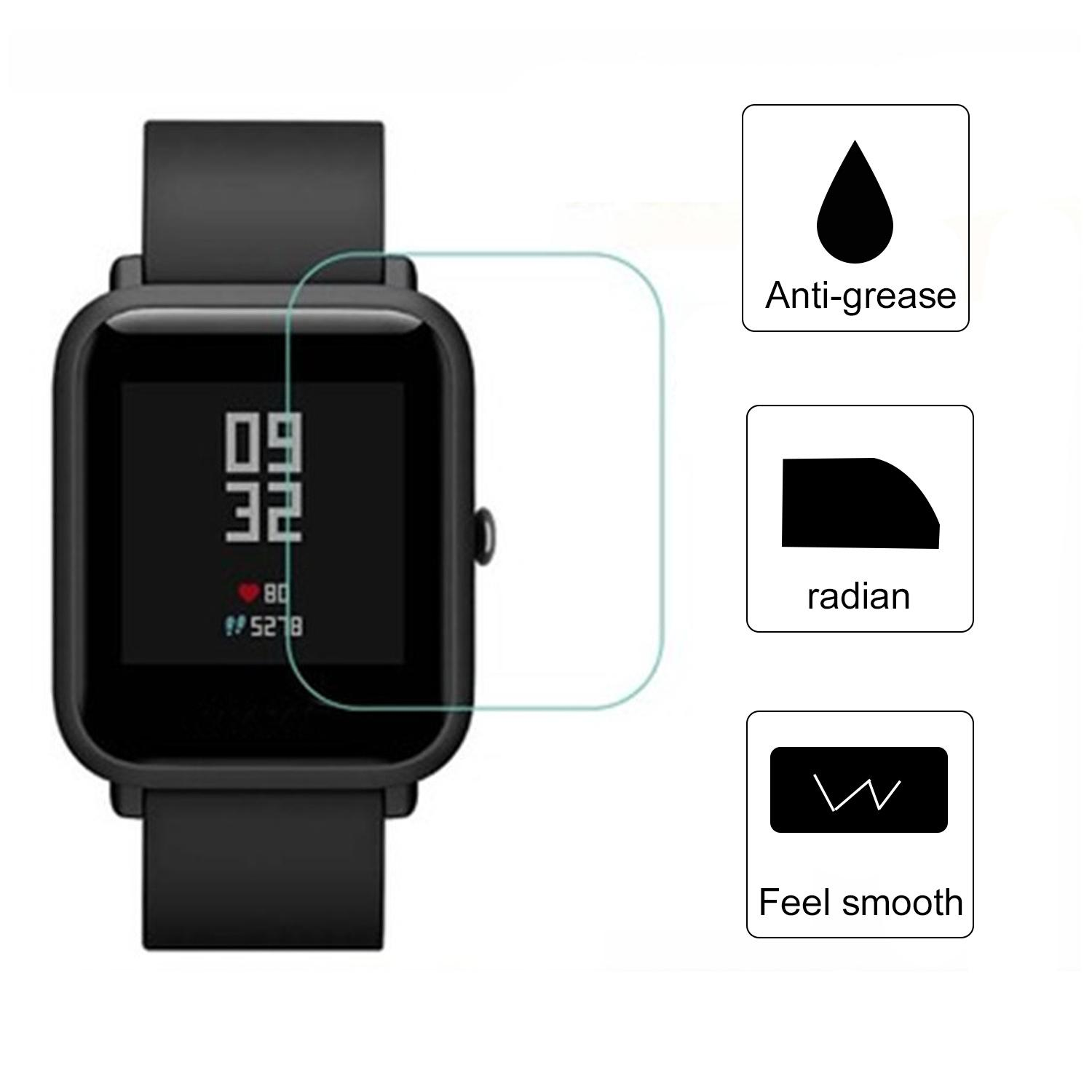 2 PCS TPU HD Clear Protective Smart Watch Full Screen Protector Film Cover for Xiaomi Huami Amazfit Bip Youth Edition - intl