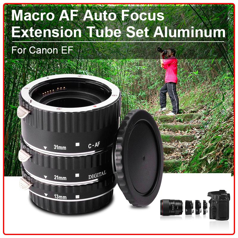 Macro AF Auto Focus Extension Tube Set Aluminum for Canon EF Camera + Caps DC373