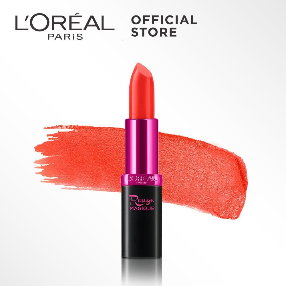 L'Oreal Paris Rouge Magique Lipstick - 917 Tropical Sorbet by L'Oreal Paris Makeup | Lipstik Loreal Orange Creamy Matte  Long Lasting Lightweight Tahan Lama Ringan Pigmented