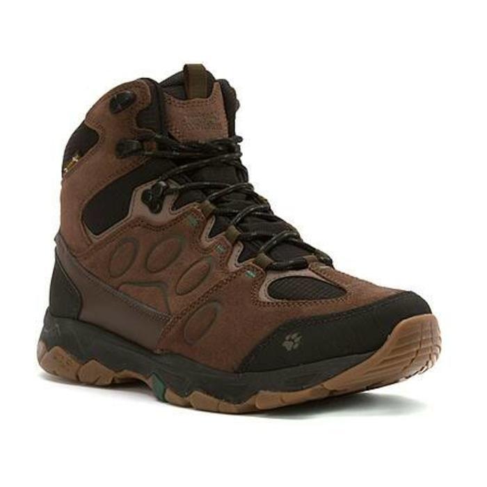 Sepatu Jack Wolfskin Mtn Attack 5 Texapore Mid Hiking Boots Dark Pine - 5jrsvG