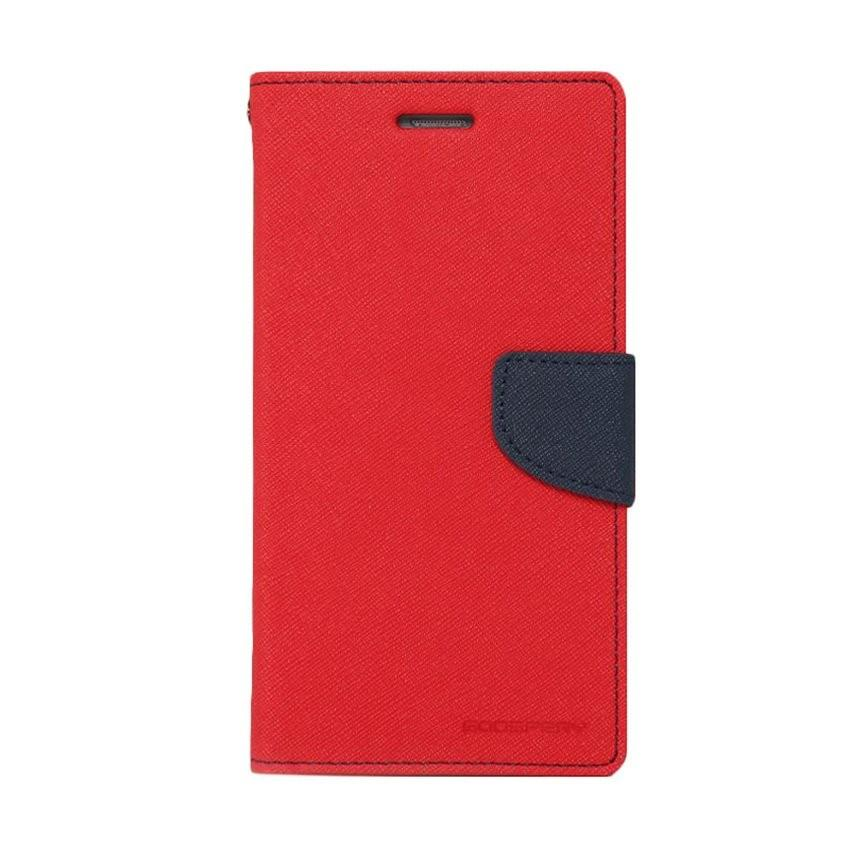 MR Mercury Fancy Diary Leather Case For Samsung t230 t231 tab 4 7.0 inci sarung dompet - Merah