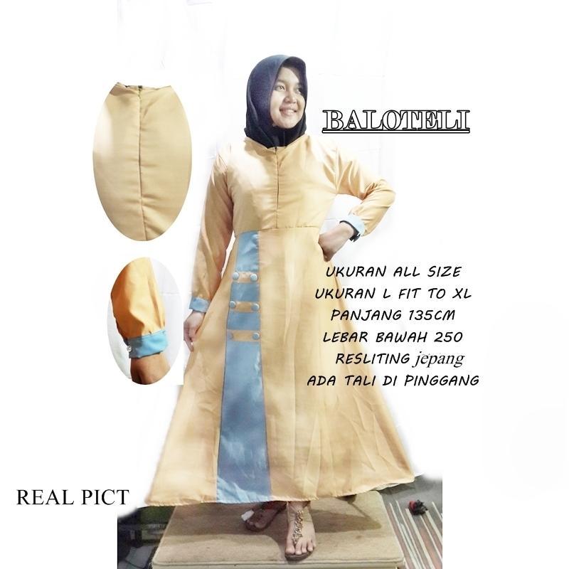abaya muslim polos DRESS GAMIS BALOTELI maxy dress balotelly UMBRELLA BUSUI list garis kantong