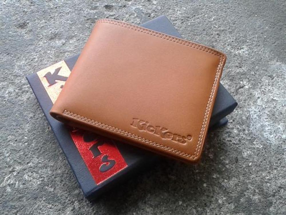 Dompet Kickers KK88XC Kulit Asli Berkualitas Durable. Dompet Fashion Pria Banyak Slot Kulit Asli