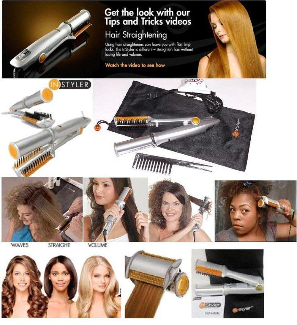 Catokan Instyler 2 In 1 Pelurus Dan Pengeriting Rambut / Hair Curly