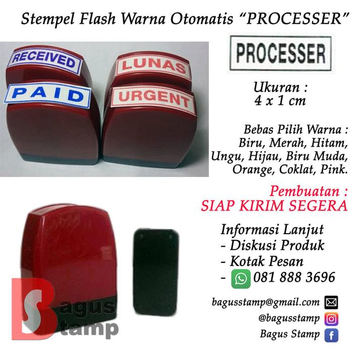 PROMO Stempel PROCESSED Warna Otomatis Flash TERLARIS