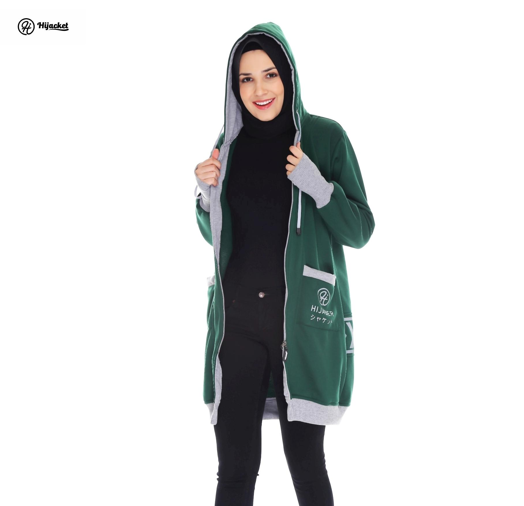 Jaket Sporty Japan Style Hijacket Green Yukata
