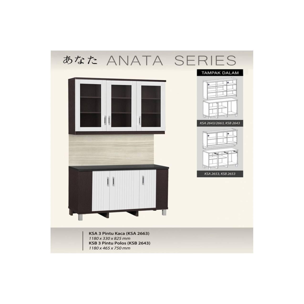 Kitchen Set Atas dan Bawah 3 Pintu Infinity Series + Rak BumbuIDR1323200. Rp 1.384.