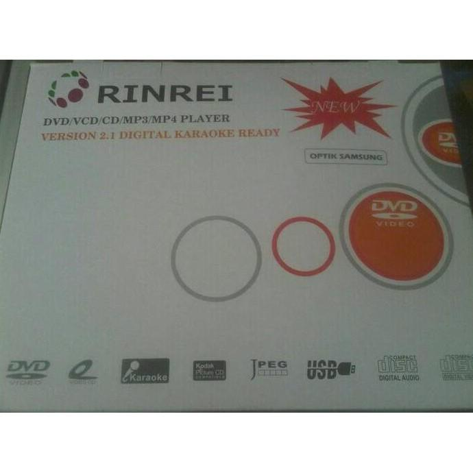 BIG SALE! Dvd Player Usb Rinrei (Optik Samsung) Baca Kaset Bajakan & Original