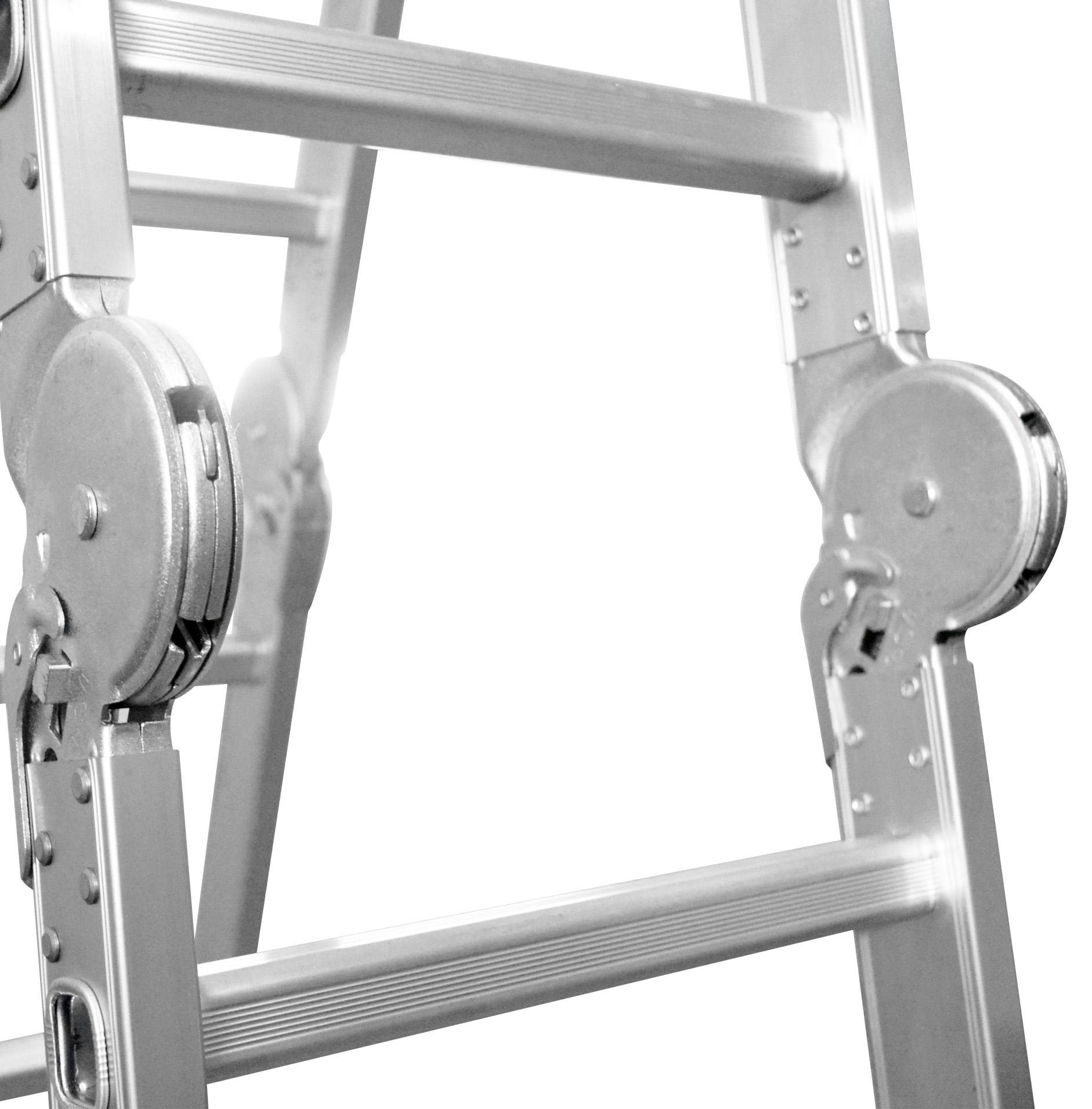 Fitur Ladder Tangga Lipat M403d 12 Step Silver Bentuk A 1 7 Meter Aluminium Dalton Ml 406 17 Engsel Tahan Lama Kuat