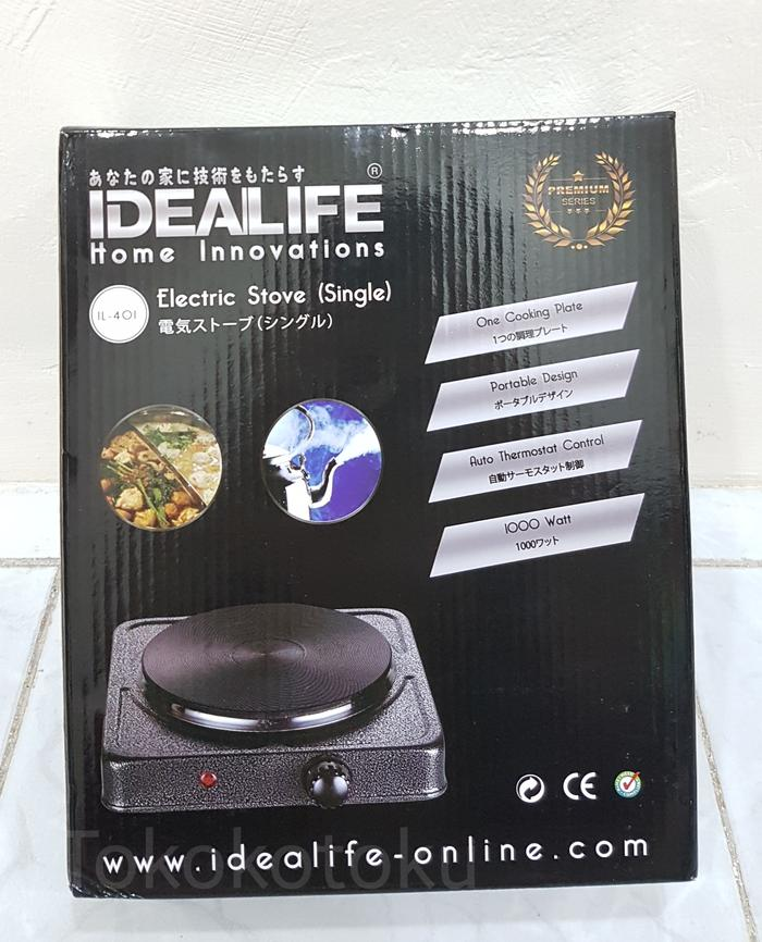 Idealife IL-401 Electronic Hot Stove Kompor Listrik 1 Tungku