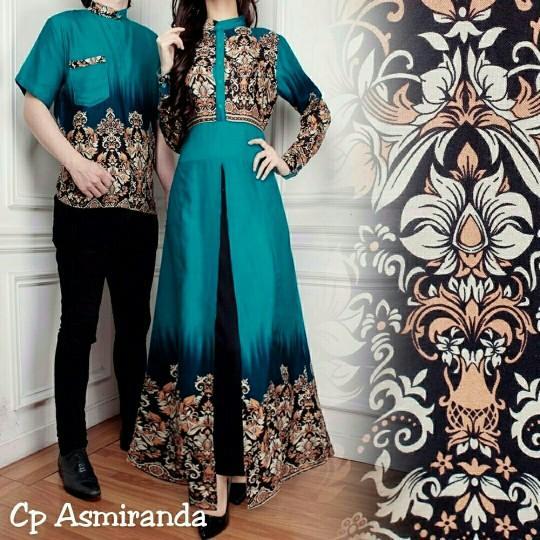 Gamis Syari Baju Batik Couple Family / Baju Batik Keluarga Cp Asmiranda Tosca