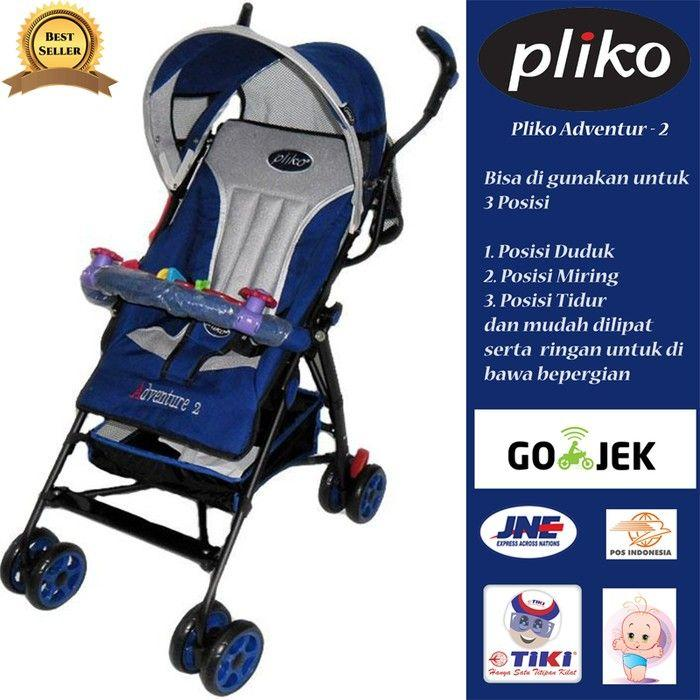 Stroller Pliko Adventure 2 Navy blue