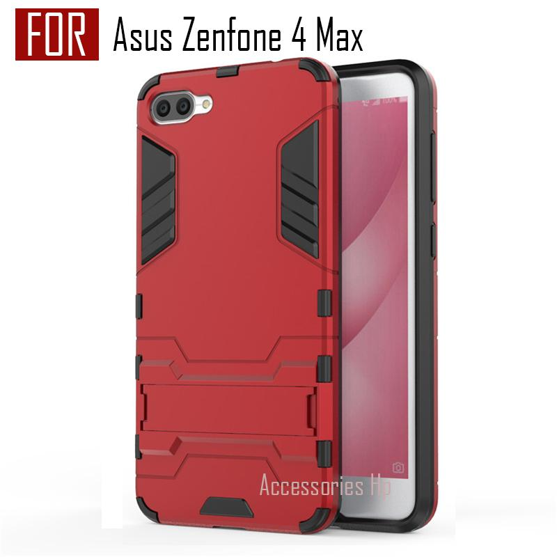 Accessories Hp ProCase Kickstand Hybrid Armor Iron Man PC+TPU Back Cover Case for Zenfone 4 Max ZC554KL