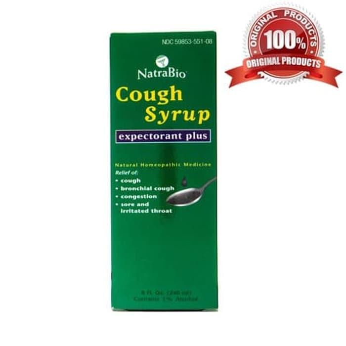 NatraBio Adult Cough Syrup 240 mL BPOM ORI