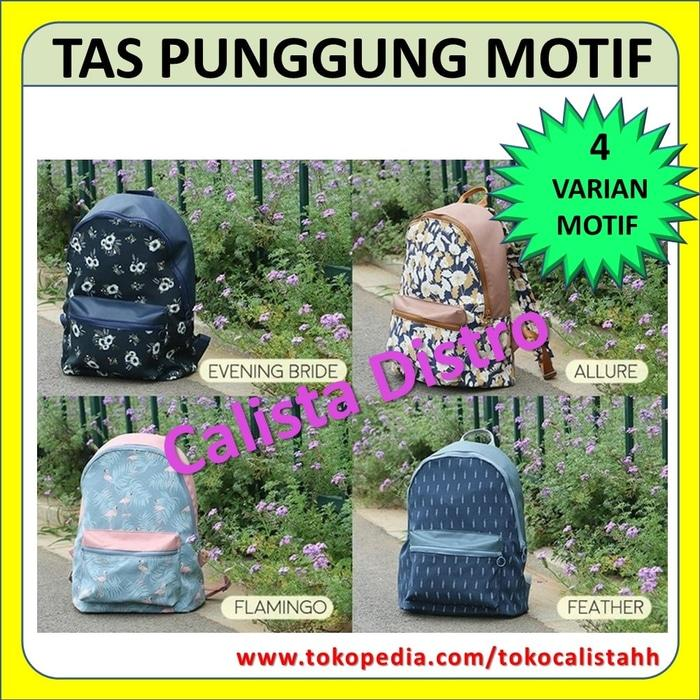 Tas Ransel Wanita Punggung Water Resistant Backpack Original NO anello - XMpybA