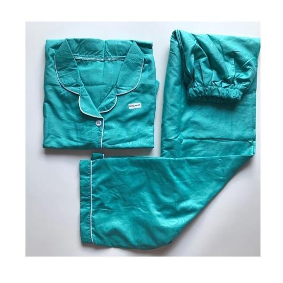 Baju Tidur Lengan Pendek Bahan Satin Baju Santai Wanita Bahan Satin Embos Premium ( All Size )