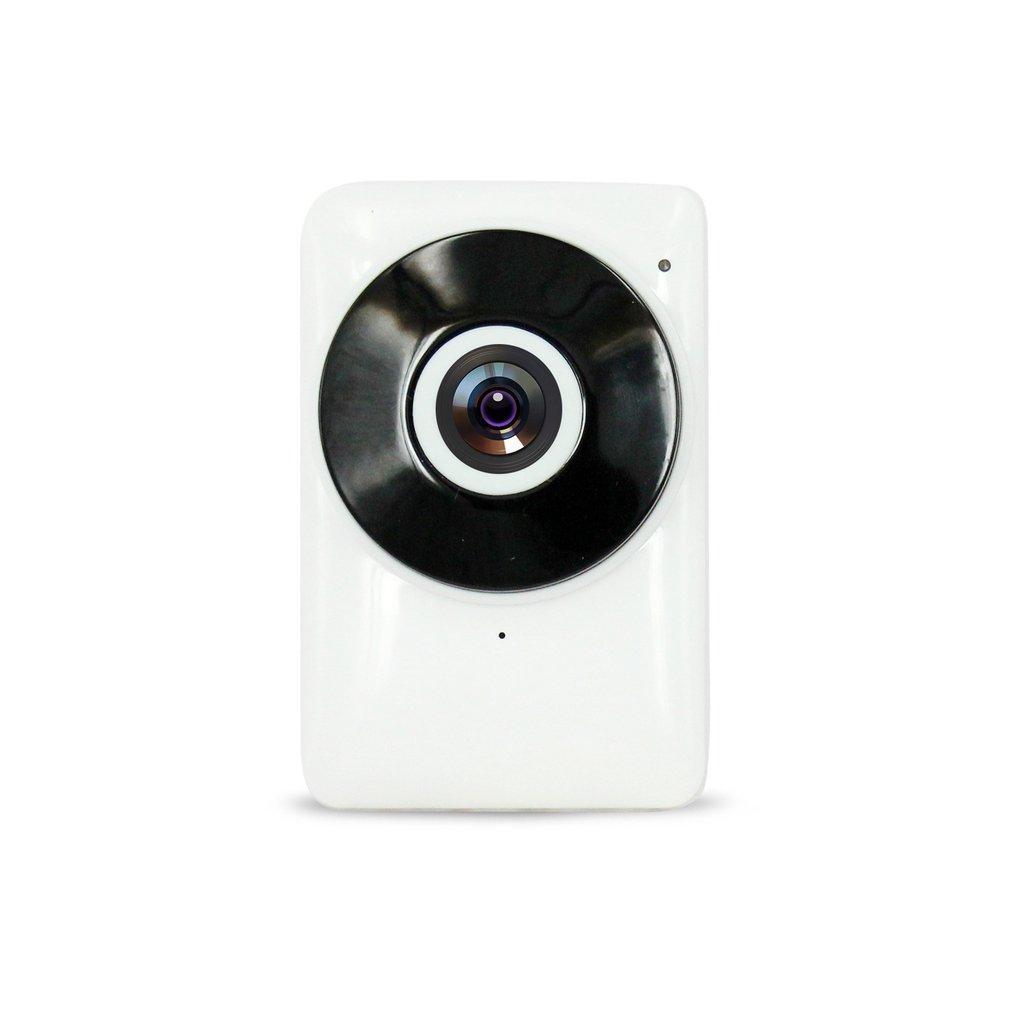 Lalove 185 Derajat Mini Wifi Nirkabel Rumah Keamanan Ip Kamera IR Malam Vision HD 720 P Monitor Pengawasan Keamanan Kamera putih EU