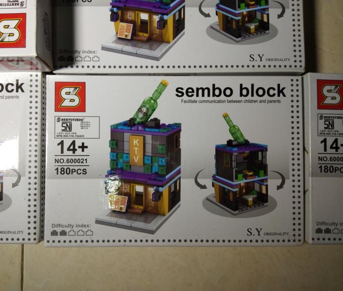 BEST SELLER!!! LEGO SEMBO BLOCK KTV 180PCS LEGO GEDUNG RUMAH - fwuiSy