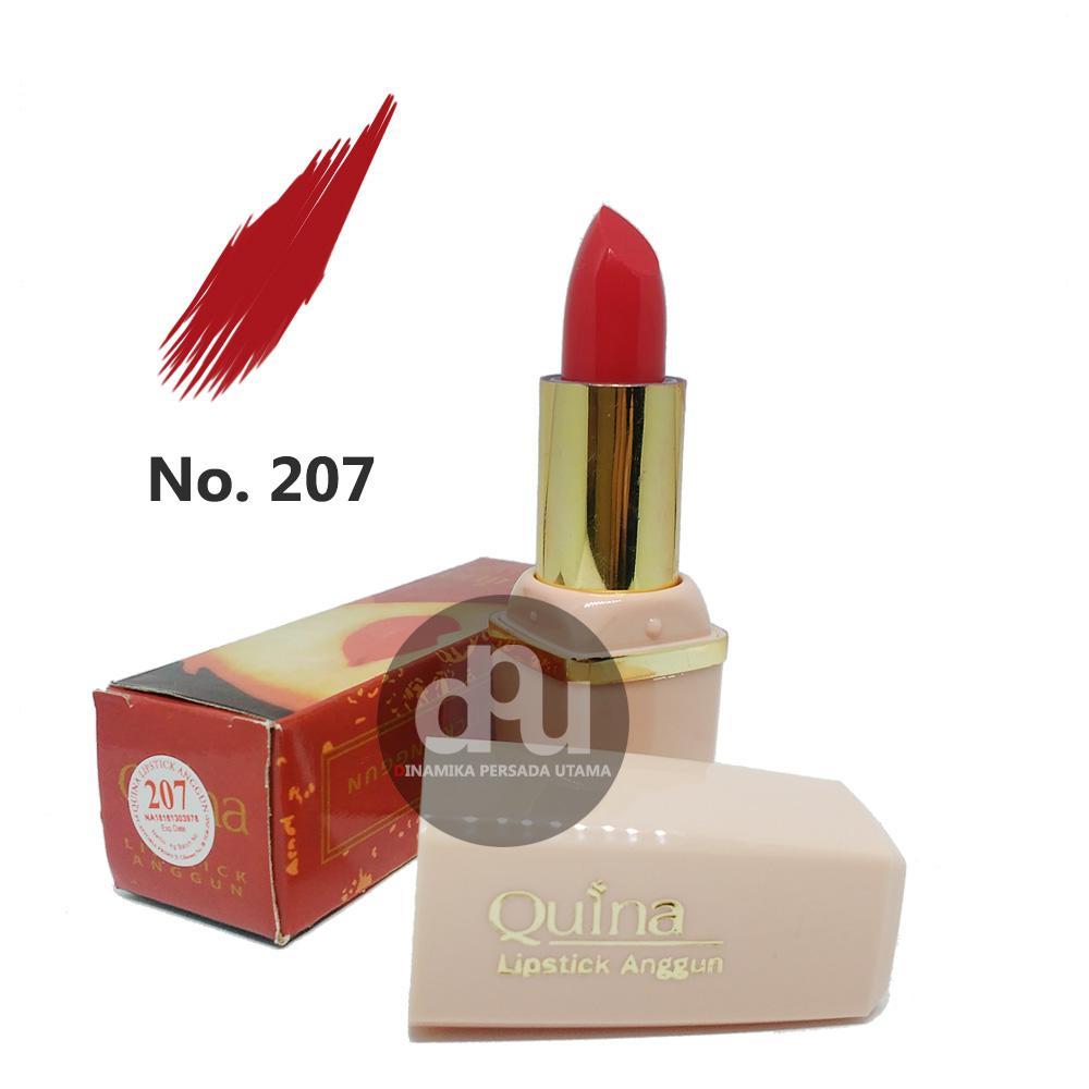 Lipstik Anggun QUINA Lipstick Glossy 202  / Makeup Bibir / Lipstik Glossy / Kosmetik / Kecantikan / Perawatan Make up