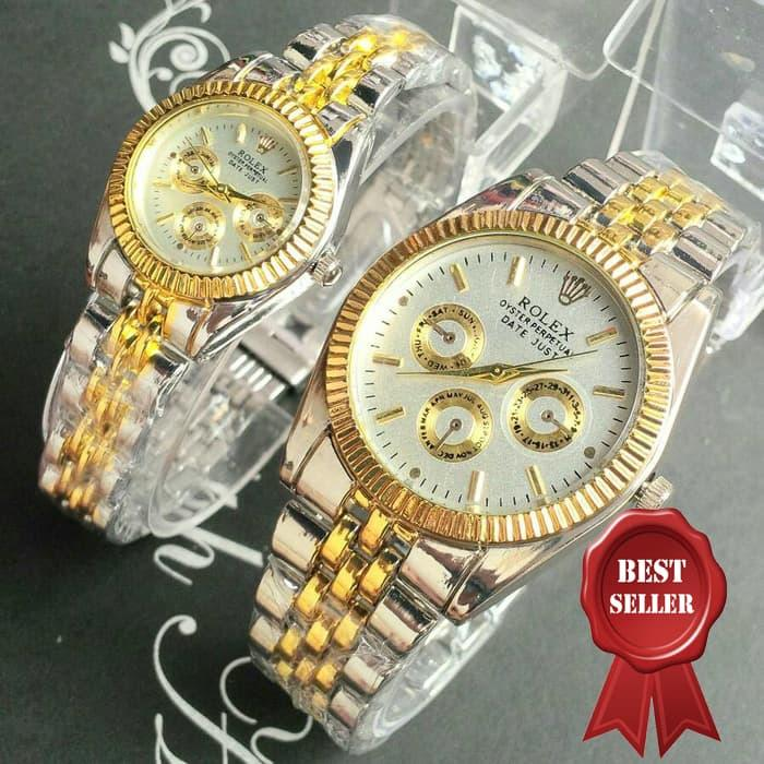 MURAH! jam tangan couple 222 silver gold !!! BEST SELLER