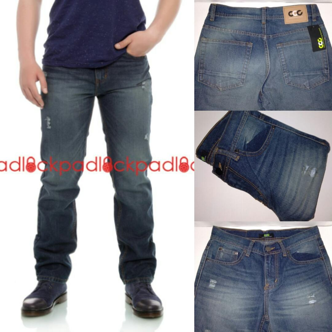 Beilexiniu Korea Fashion Style Pria Kartun Remaja Denim Celana Casual Kanvas Abu Cln 1027 Jeans Standar Reguler Fit Sobek