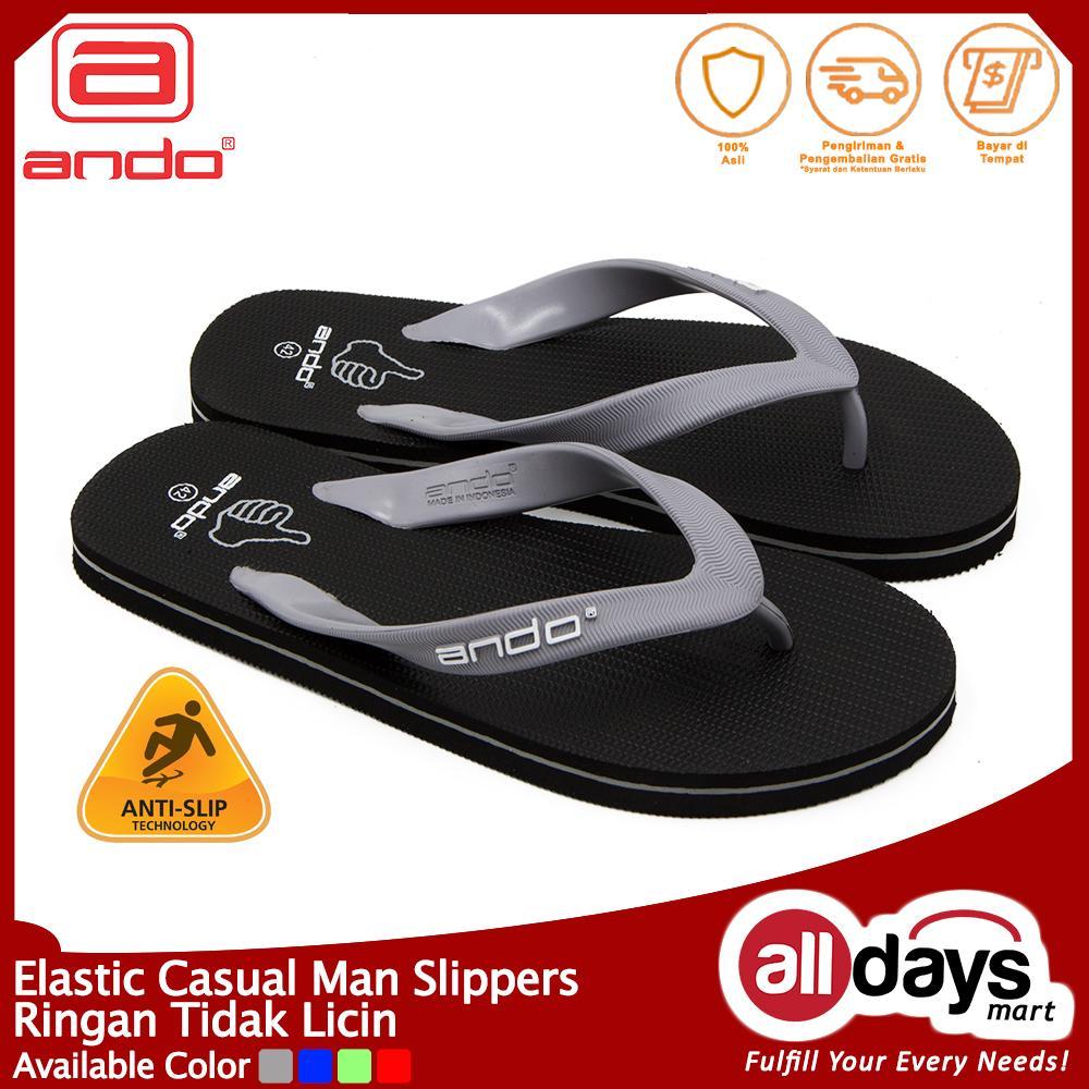 Ando Sandal Jepit Pria Hawaii Like - Grey Size 38-42