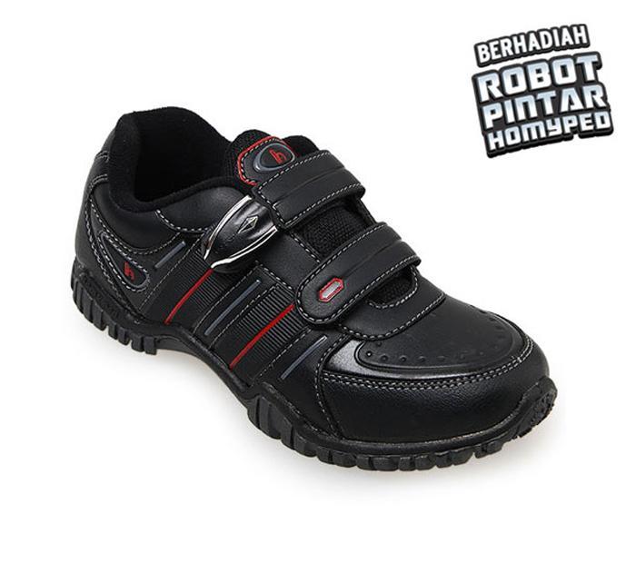 Homyped Artemis 02 Sepatu Sekolah Anak - Black
