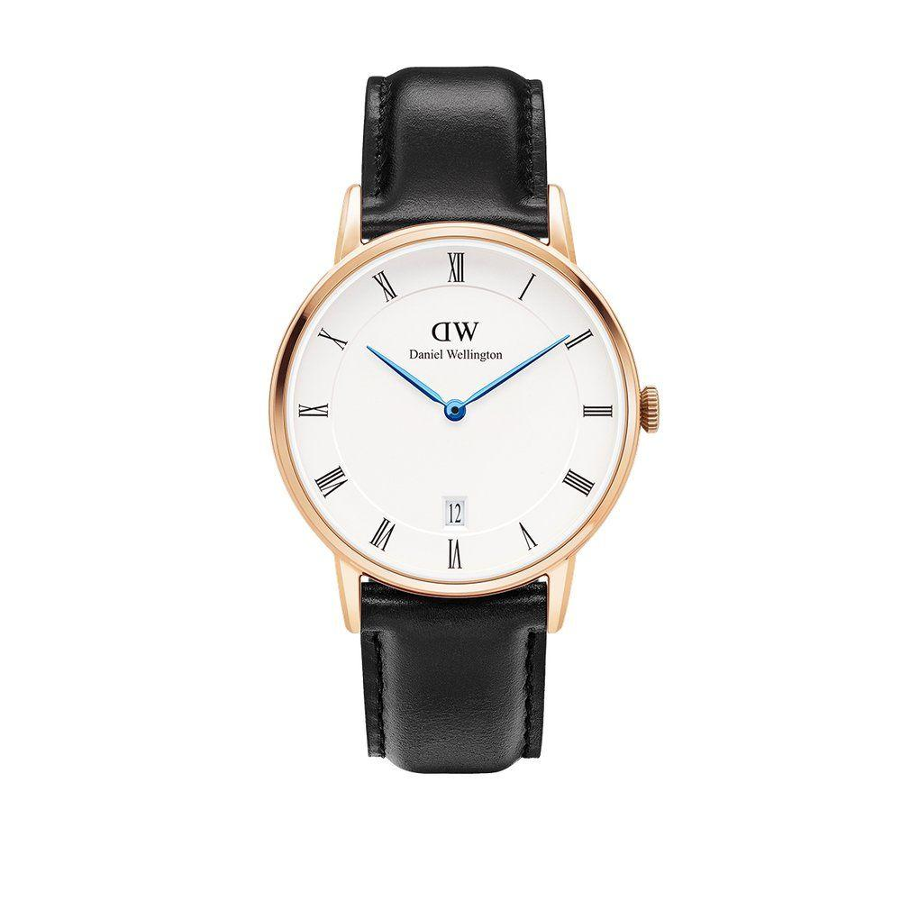 Daniel Wellington Jam Tangan Pria Wanita Strap Kulit 1103DW Dapper Durham Dial Men Women Leather Watch - Black