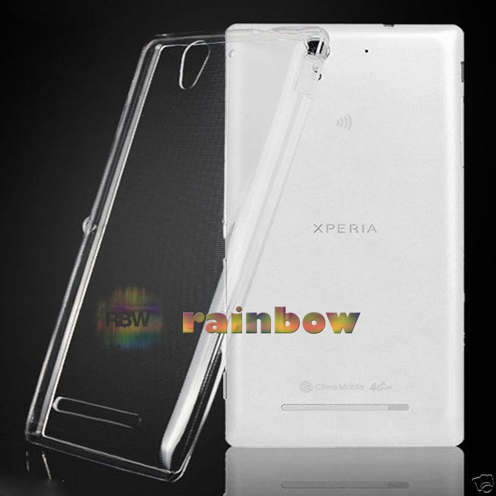 Rainbow Ultrathin Sony Xperia C3 Silicone Soft Case Ultrathin Jelly Air Back Case 0.3mm /