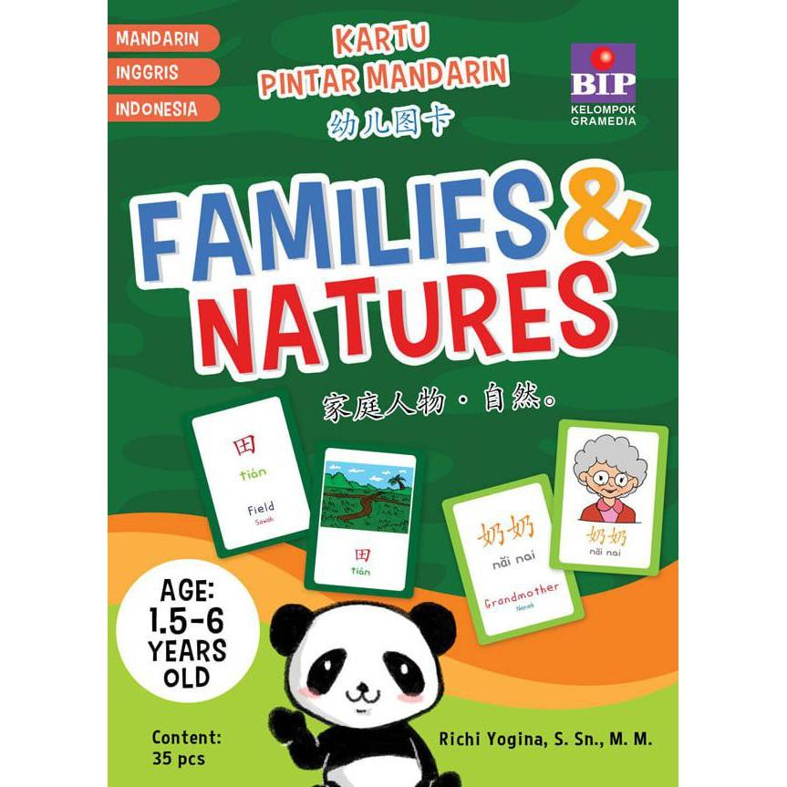 Bip - Kartu Pintar Mandarin : Families & Natures - Kidsbook