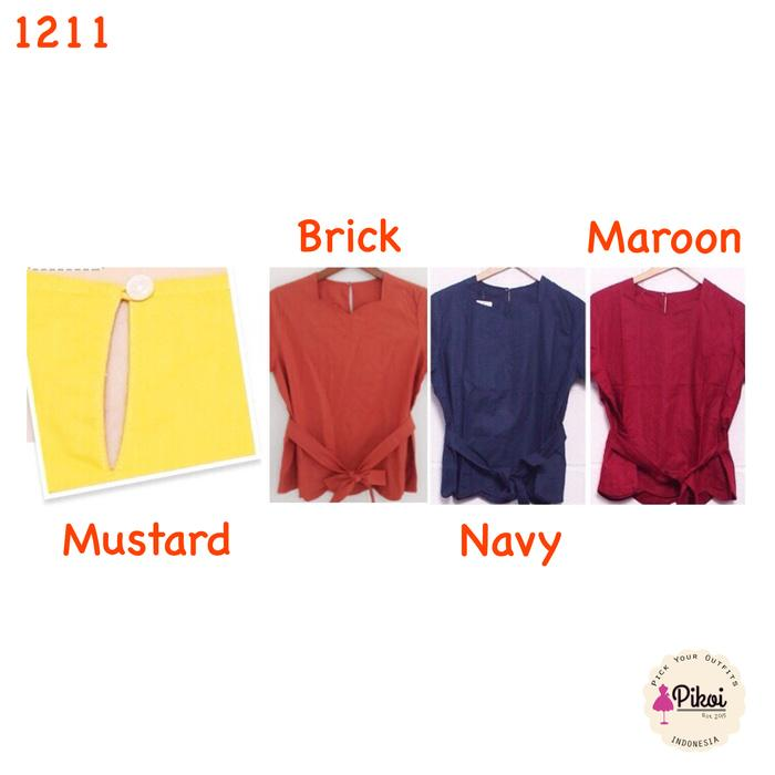 atasan wanita murah / baju ikat / blus korea murah / blouse jalan / kuliah / kerja / kantor / baju gelombang / baju peplum