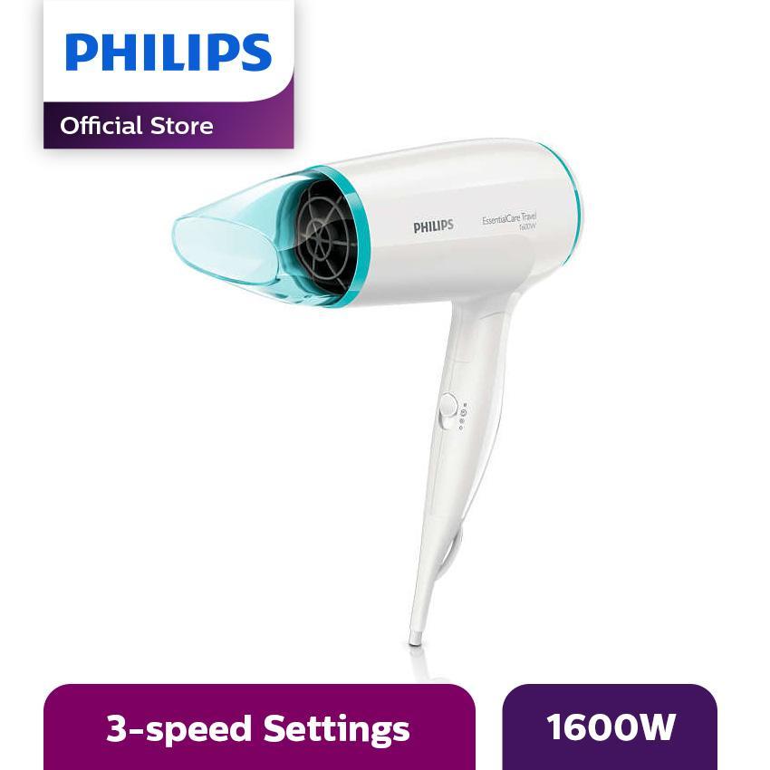 Philips BDHD006 Hair Dryer Pengering Rambut - Putih-Biru