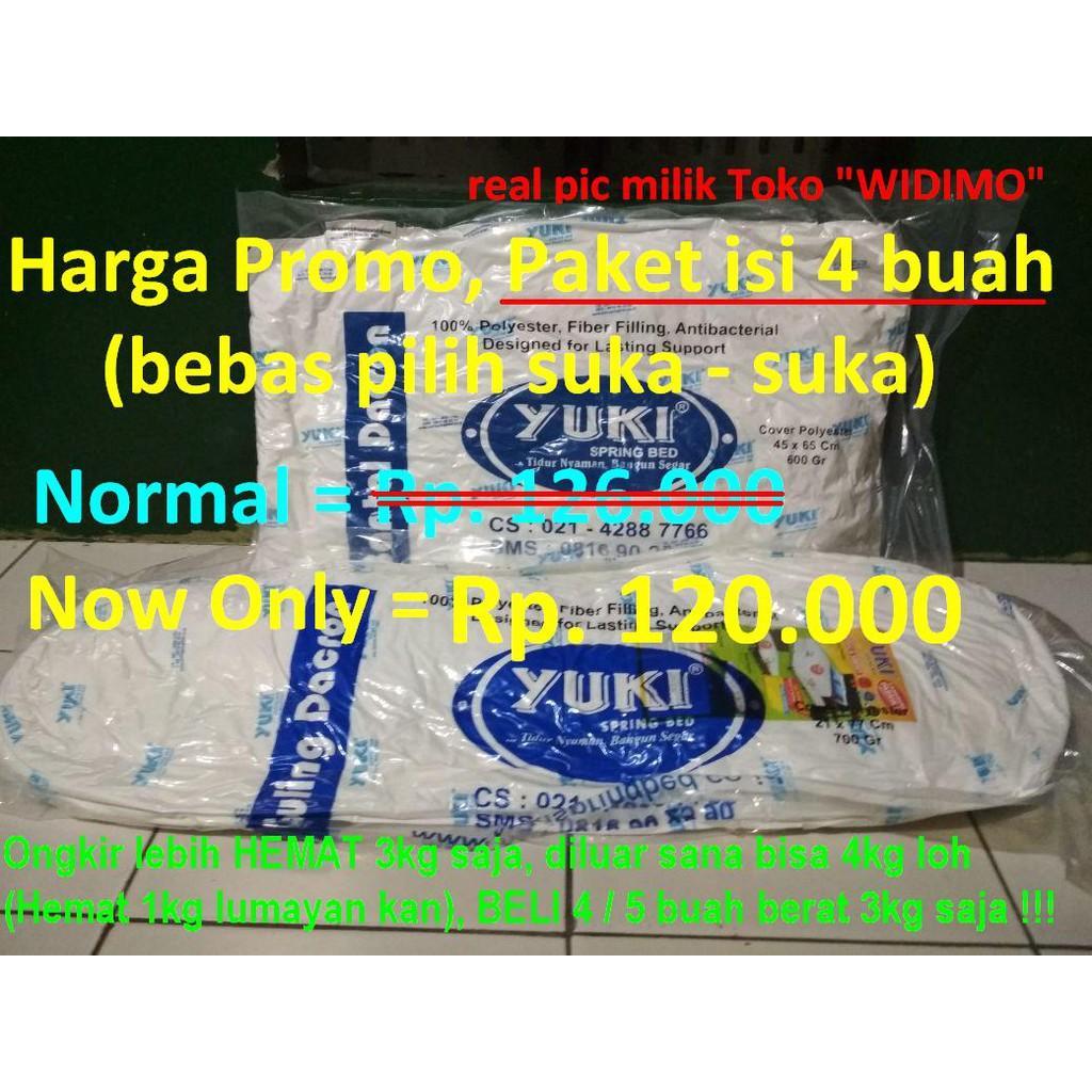 Bantal Dacron Yuki Springbed Referensi Daftar Harga Terbaru Indonesia Lite Medium Comfort Promo Paket Isi 2 Guling Asli 100 Kepala