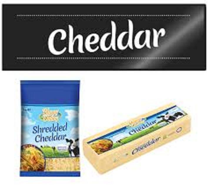 Cheddar Cheese Block 2 kg + Sertifikat Halal + Product Info