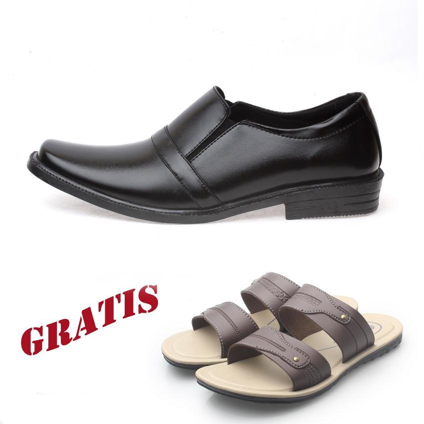 Kaiko / RK shoes / fashion pria / sepatu / sepatu pria / sepatu cowo / sepatu cowok / sepatu formal pria / sepatu kerja / sepatu formal pria / sepatu kerja pria /  sepatu kulit / sepatu kulit pria / sepatu formal pria RF02 GRATIS sandal pria R2 coklat