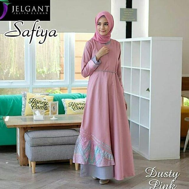 Safiya Dress By. Nasywa Collections Baju Gamis  Gamis Casual Terbaru