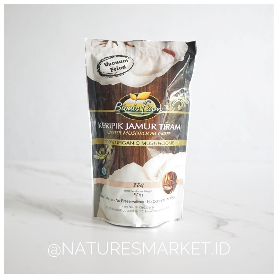 Naturesmarket.id -  BIONIC FARM KERIPIK JAMUR TIRAM (BBQ)