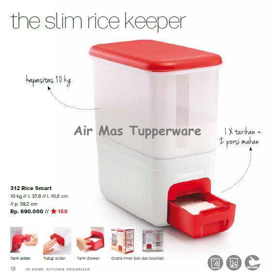 Rice Smart Tupperware/ bisa buat kado/  penyimpanan beras /terlaris