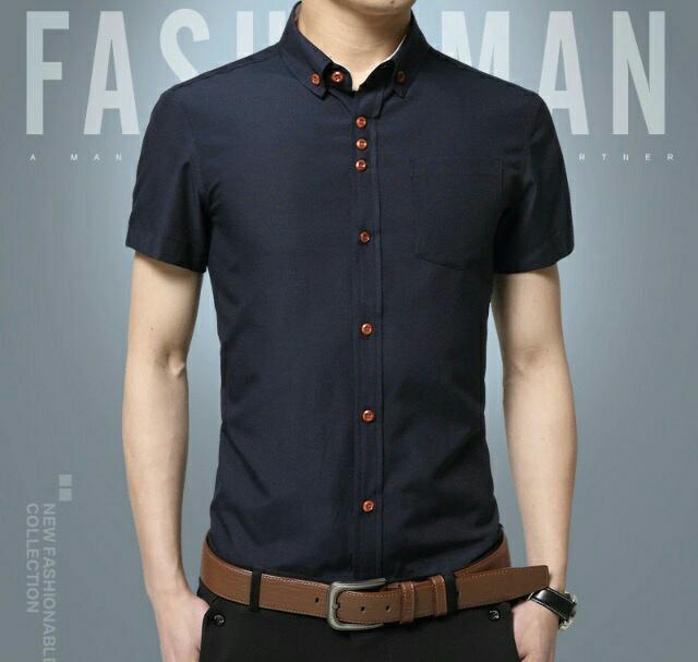 Hem Dix Hitam Fashion Kemeja Pria Baju Atasan Cwo