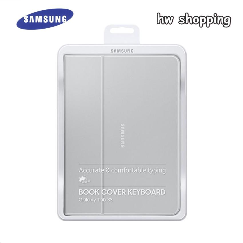 Samsung Original Book Cover Keyboard for Samsung Galaxy Tab S3 9.7 Inch SM-T820/T825 - Silver