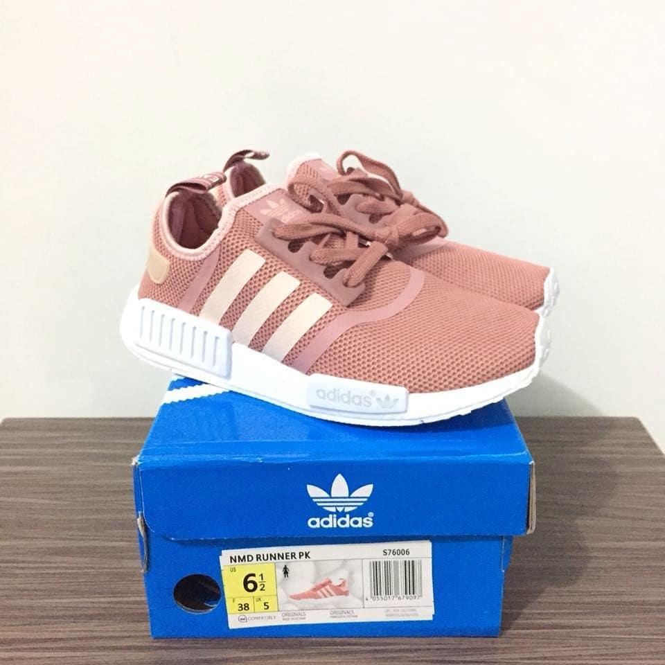 Cek Harga Baru Sepatu Running Wanita Adidas Nmd Pink Salmon Box