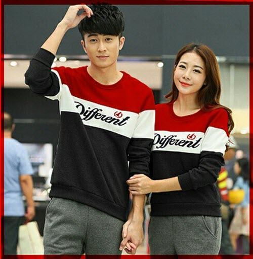 Baju Wanita Shop Kaos Couple Wanita Pria Lengan Panjang  Different / Kaos Oblong / Kaos Pasangan Pria dan Wanita / Tshirt Pasangan / Pakaian Kembar LC (fferentdi)