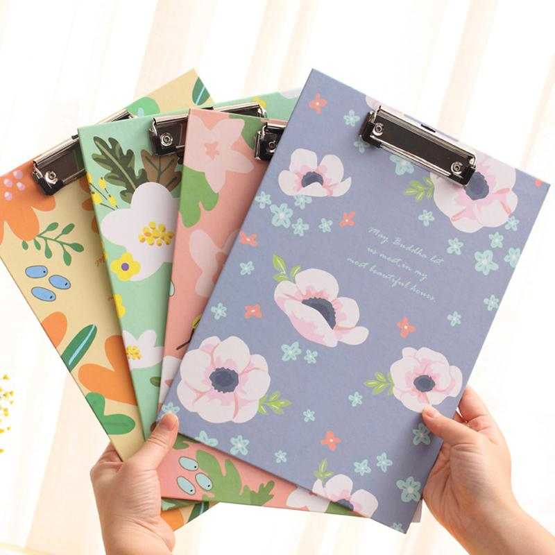 Mua Cute Flower Series A4 Folder Board Tablet Holder Paper Writing Pad Clipboard for Child Gift Office Supplies Stationery - intl