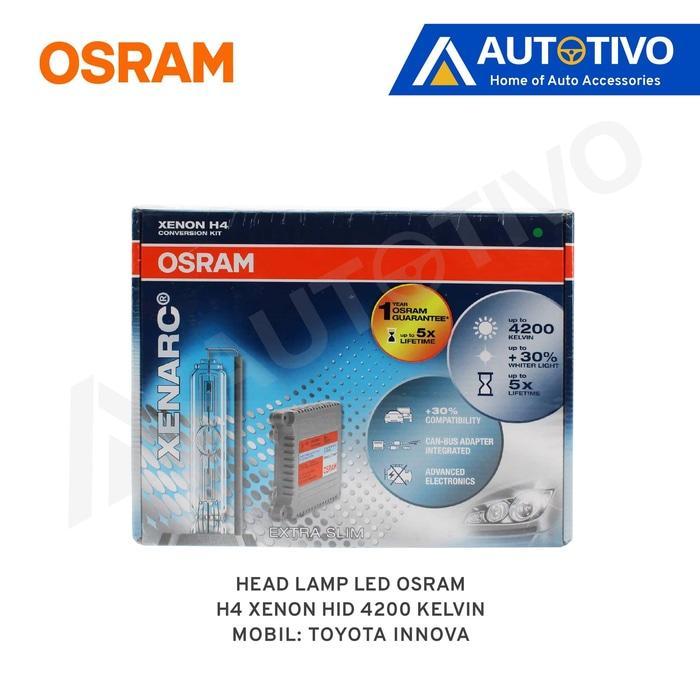Toyota Innova Osram Lampu Depan (Head Lamp) Xenon HID H4 4200k