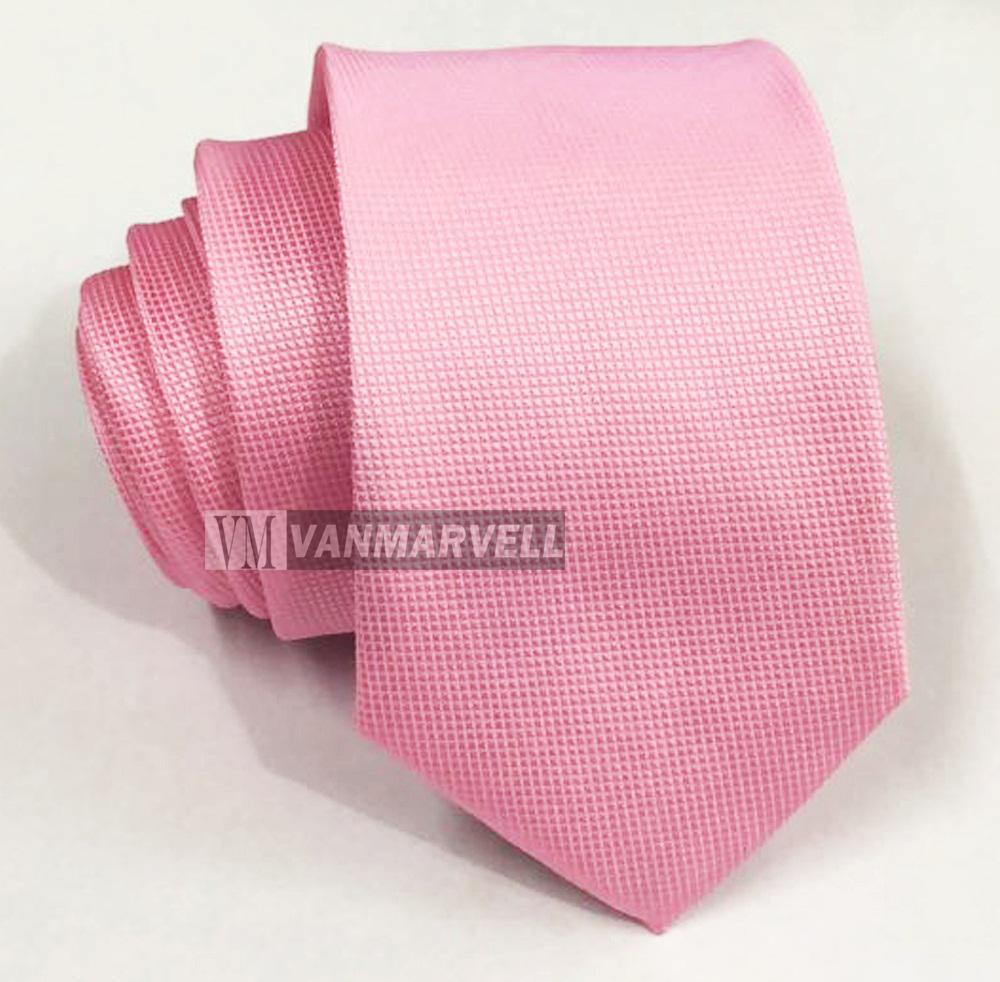 VM Dasi Pink Polos Bintik Halus Slim