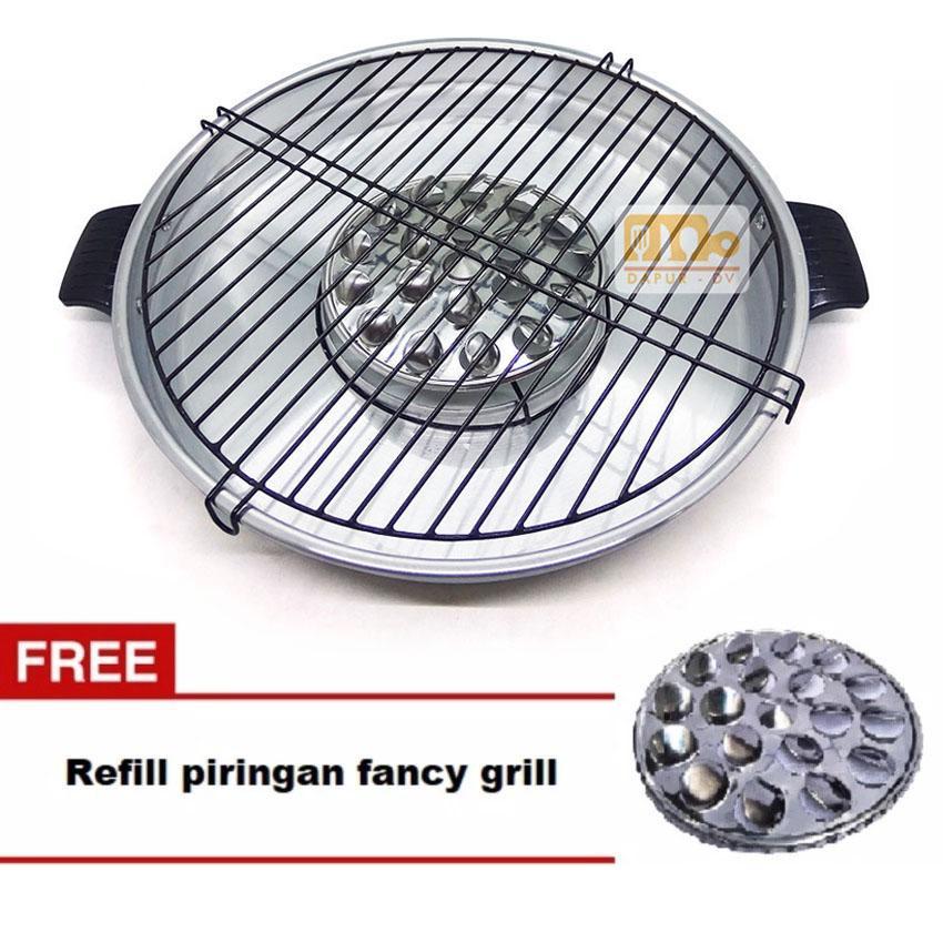 Maspion Fancy Grill 33 cm + Gratis Refill piringan pemutar fancy grill